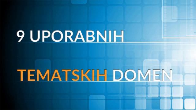 9 uporabnih tematskih domen