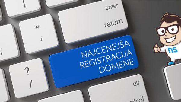 Najcenejša registracija domene